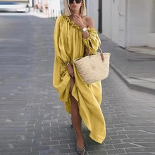 Boho Maxi Dress Women Off Shoulder Long Dress 2019 Sexy Summer Party Bohemian Beach Dresses Vestidos цена и фото