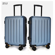 ZYJ Travel Trolley Luggage Men Women Alloy Business Solid Rolling Scratchproof Airplane Suitcase Luggage Spinner Wheels Trunk travel tale 20 24 inches abs pc cartoon lovely rolling luggage customs lock spinner brand travel suitcase