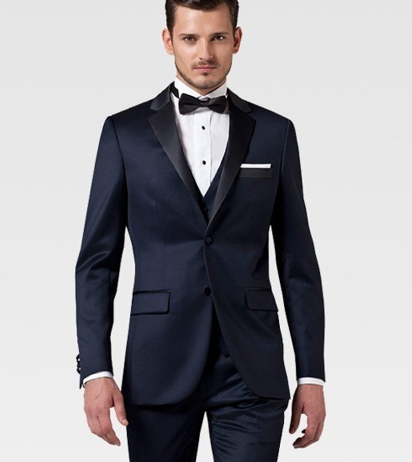 Custom Made Groom Wedding Suit Wool Tuxedo Navy Men Wear 2017 Slim Fit Free Shipping In Suits From Weddings Events On Aliexpress