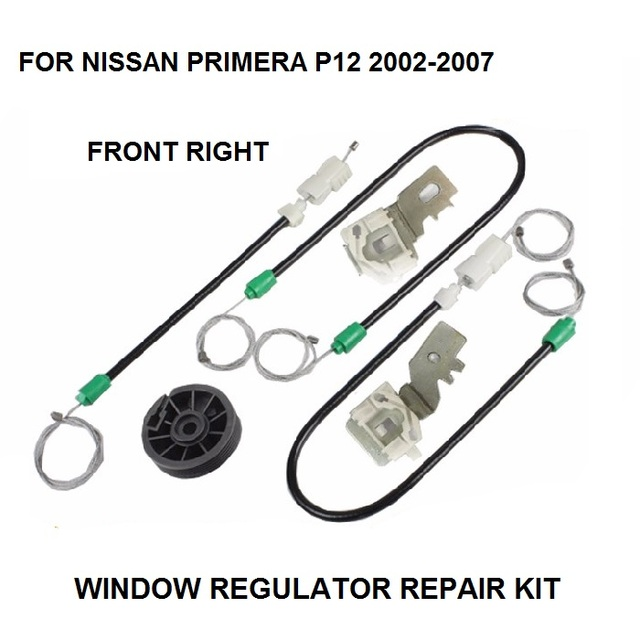 WINDOW REGULATOR KIT FOR NISSAN PRIMERA P12 ELECTRIC WINDOW REGULATOR REPAIR KIT FRONT RIGHT 2002-2007