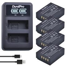 Durapro 4pc NP-W126 NP W126 Camera Battery + LED USB Charger For Fujifilm HS50 HS35 HS33 HS30EXR XA1 XE1 X-Pro1 XM1 X-T10 Camera