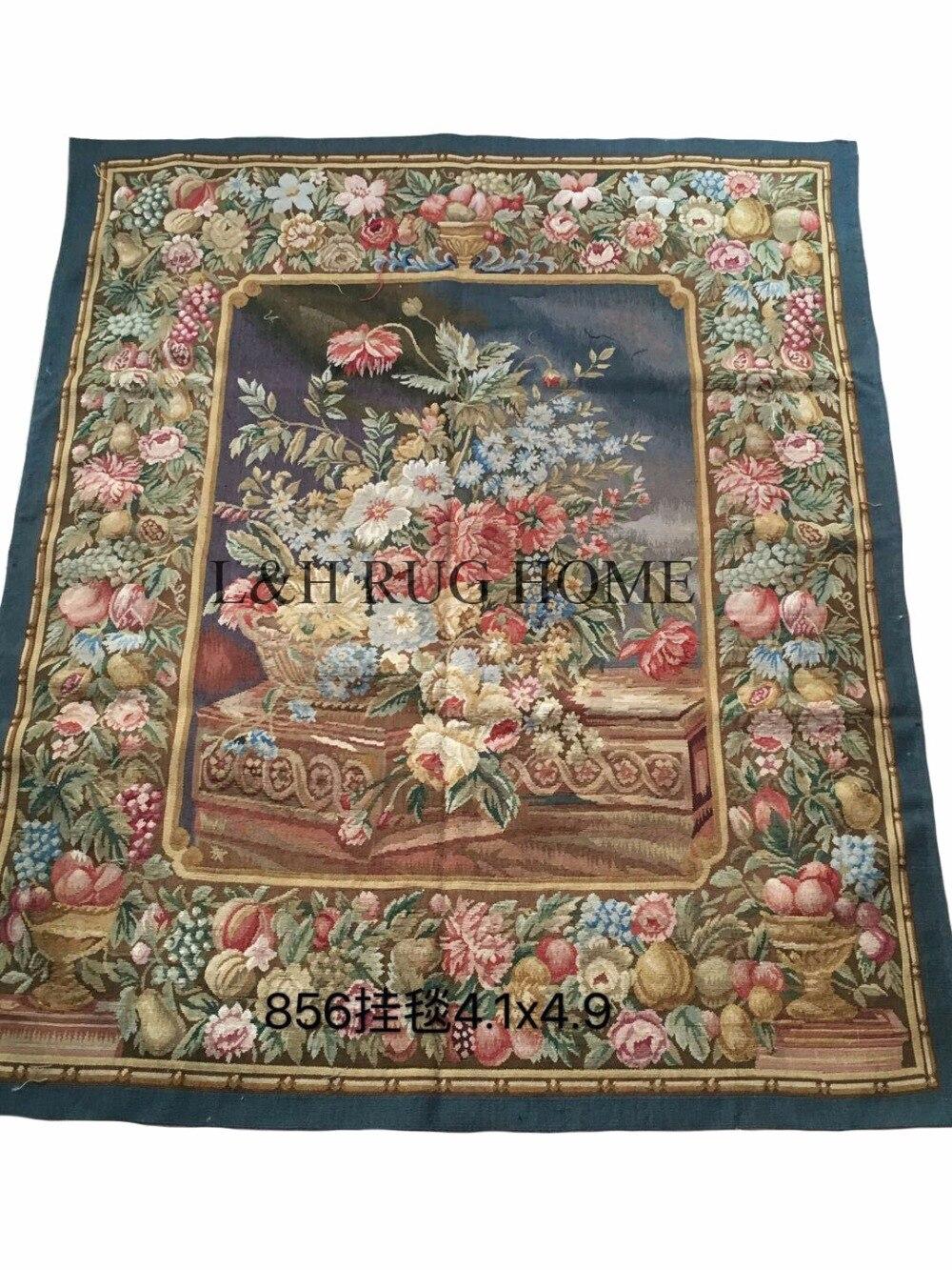 Livraison gratuite 100% laine Aubusson tapisserie 100% à la main tapisserie tapis tapisserie murale