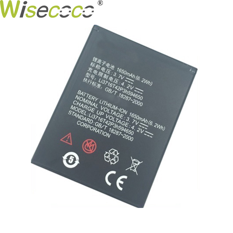 WISECOCO 1650mAH Phone <font><b>Battery</b></font> Li3716T42P3h594650 For <font><b>ZTE</b></font> U970 U807 v807 N807 V930 U930 N970 <font><b>V970</b></font> V889S V889M With Tracking Code image
