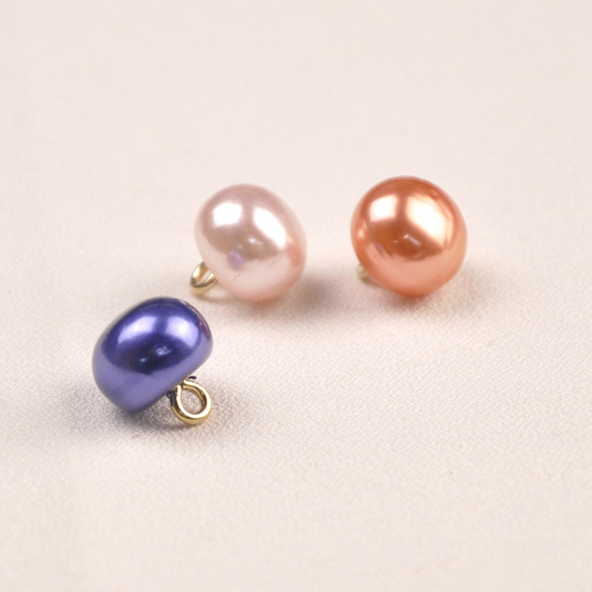 10pc 10mm Pearl Buttons for Crafts Sewing Decorative mushroom Button Copper Shank Shirts Sweater Diy Sew on Buttons for Clothing in Buttons from Home Garden