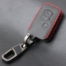 עור אמיתי רכב מפתח Case כיסוי עבור טויוטה לנד קרוזר פראדו 150 קאמרי פריוס כתר עבור סובארו Foreste XV Keychain מחזיק