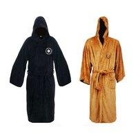 Lego Star Wars Cosplay Darth Vader Jedi Costume Hooded Pajamas Toweling Bath Robe Sleepwear New Brown