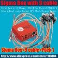 Sigma caja original con 9 cables con paquete 1 de activación para t basados en mtk motorola, alcatel, huawei, zte