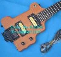 Neue headless gitarre in natur mit erle korpus + EMS geben verschiffen + schaumkasten F-2102