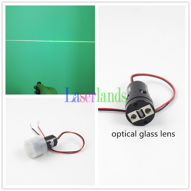 10mW 532nm Green Line Diode Laser Module for Laser Level w/ Glass Lens 3VDC APC