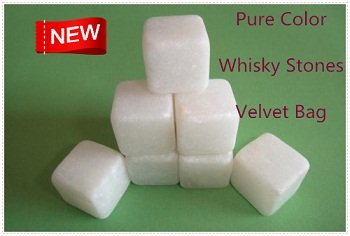 New Arrival Pure Color Whisky Stones 9pcs/set with Velvet Bag Whiskey Rock Stone Free shpping