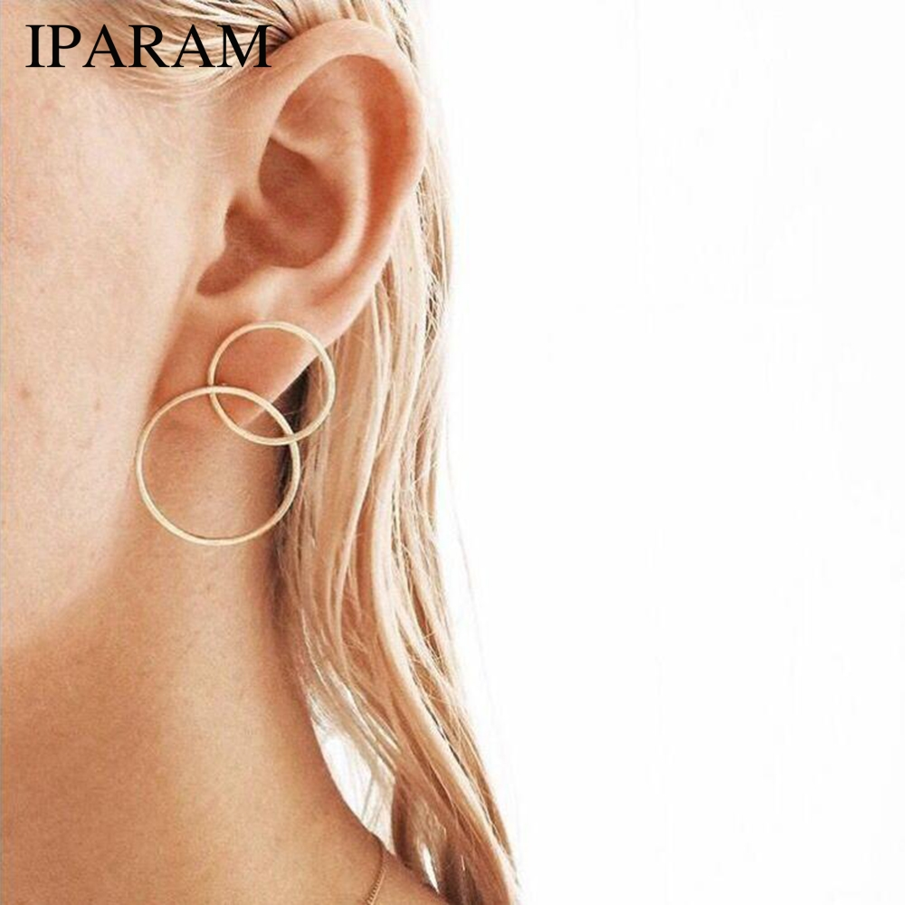 New Fashion Earrings With Simple Modelling Ear Ring Jewelry Wholesale Women's Personality Round Earrings Costume-jewelry-earring