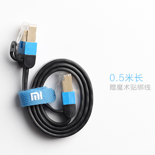 Original Xiaomi High Speed Cat 6 Ethernet Noolde Flat Cable Gold Plated Crystal Head Computer LAN Internet Network Cord