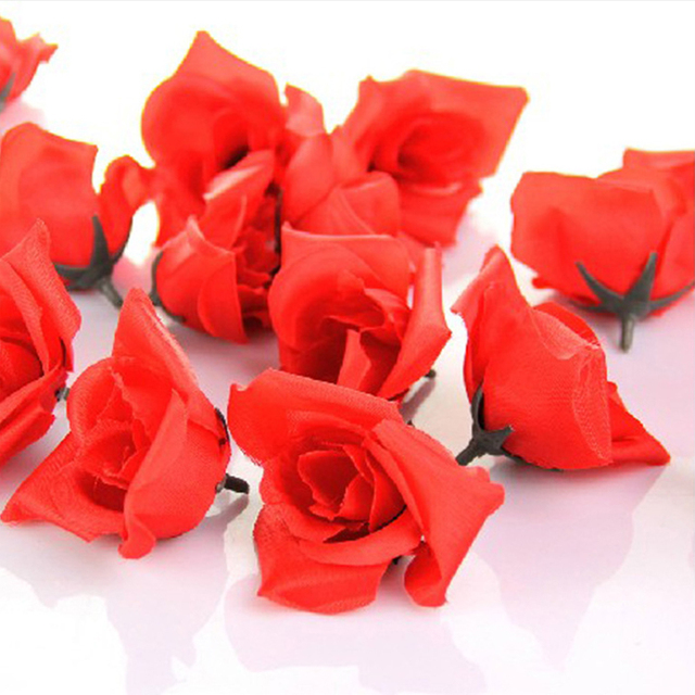 Aliexpress buy 50pcs artificial red silk flower rose diy 50pcs artificial red silk flower rose diy wedding wall floor decoration arch flower party accessories mightylinksfo