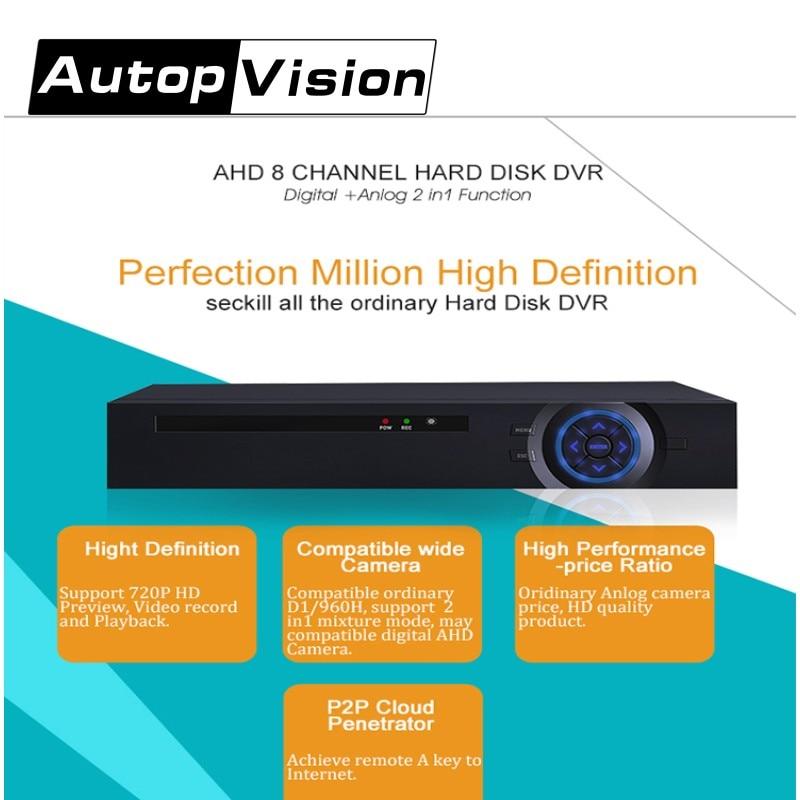 LS-A8 New Analog/Digital/AHD Video recorder 8 channel real-time recording AHD DVR with HDMI VGA support 1* SATA HDD ikonbit tv hunter analog recorder u55