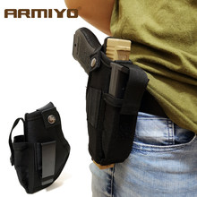 Armiyo Gun Magazine Holster Concealed Tactical Carry Belt Metal Clip Airsoft Nylon Bag Hunting Articles For All Sizes Handguns(China)