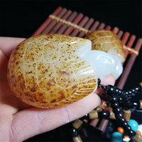 Xinjiang Hetian Jade Seed Material Afghan Jade Tortoise Pendant Necklace Jewelry for Men and Women Playing Ornaments Dropship