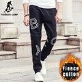 Пионерский Лагерь Осень Зима толщиной хип-хоп брюки мужчины бренд одежды 100% хлопок мужской флис черный тренировочные брюки мода jogger 622163