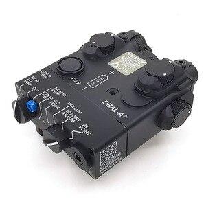 Image 3 - An/PEQ 15A DBAL A2 led 백색 무기 빛 + 원격 스위치를 가진 빨간 레이저 렌즈 전술 사냥 소총 airsoft 건전지 상자