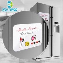 """A4 гибкие доски """" x 12"""" Dry Erase Холодильник Магнитные детская белая доска для рисования доска объявлений напоминание магнит на холодильник Примечание"""