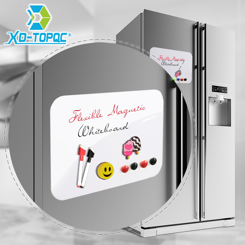 A4 Flexible tableau blanc 9 x 12 effaçable à sec réfrigérateur magnétique enfants blanc planche à dessin Message tableau rappel aimant réfrigérateur Note