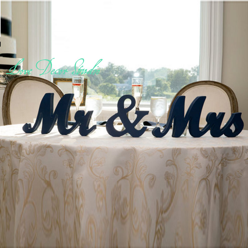 Free Shipping Mr Mrs Wedding Table Signs For Sweetheart