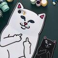 KISSCASS Для iPhone 6 Дело Новое прибытие 3D Мультфильм Cat Силиконовые Резиновые Покрытия случаях Для iPhone 6 6 S 6 6 S Плюс 5 5S Se Case Коке