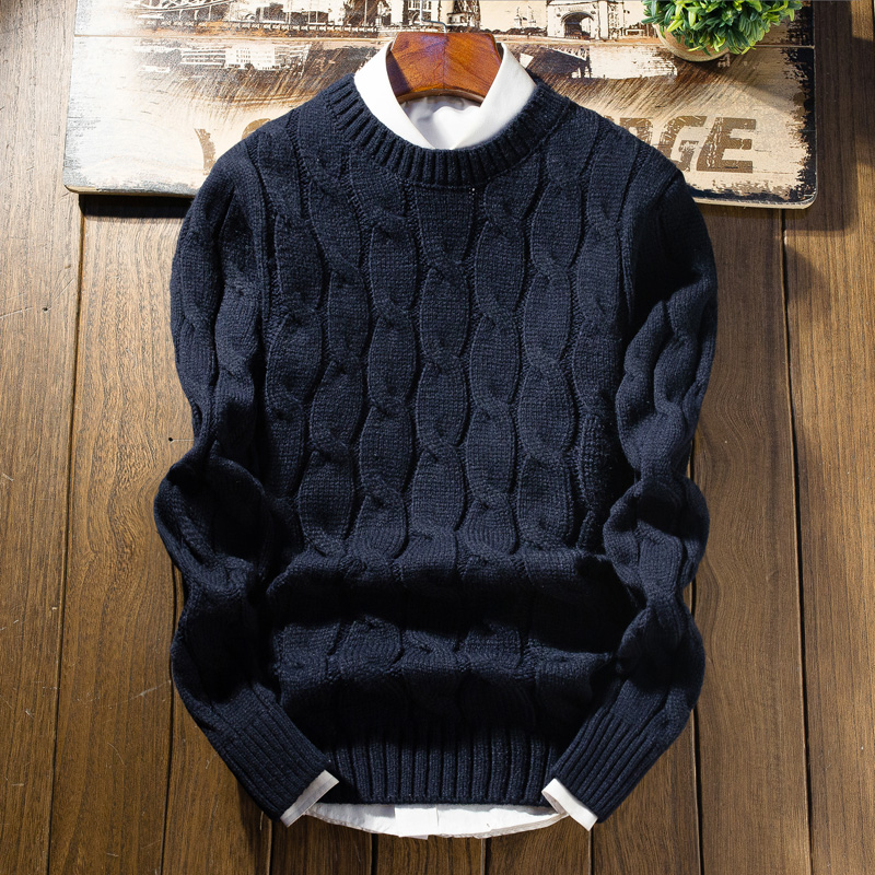 Zogaa 2019 New Winter Thick Sweater Men Long Sleeve Slim Fit Knitting Men's Warm Christmas Sweater High Quality Casual Pullovers