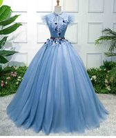 Plus Size 6XL Blue Luxury Wedding Bridal Party Dress Women Evening Formal Dress Ball Gown Gift For Lady Large Size 5XL 4XL