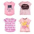 18M-6T Baby Girl T-shirt Cartoon Short Sleeve Casual T-shirt High Quality 100% Cotton Kids Summer Clothes