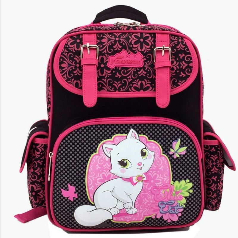 Милый Белый Кот Ранец детский ортопедический Водонепроницаемый сумка дети студент школьные сумки для подростков дети снятие стресса дорож...
