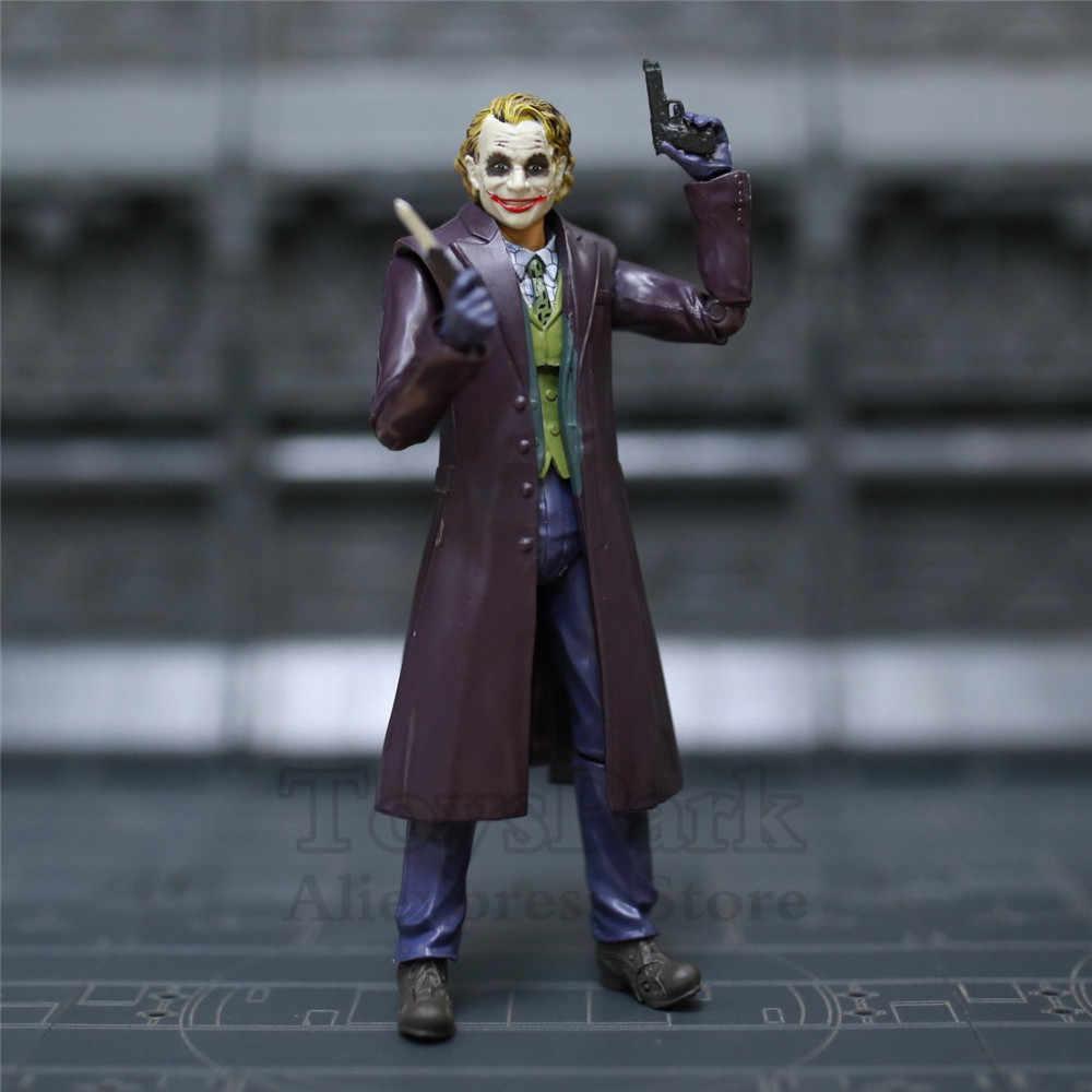 New Dc Movie Joker 15cm Action Figure Batman The Dark Knight Rises Heath Ledger 5 The Joker Dc Doll Toys Ko S Neca Shf