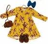 2018 Spring Kids Dresses For Girls Floral Print Baby Girl Dress Children Clothes Cotton Full Sleeve