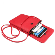 Mini Crossbody Pouch Cell Phone Wallet Case Purse with Shoulder Strap pouch for Phone 7plus samsung S8 S8plus 6.3 inch handbag