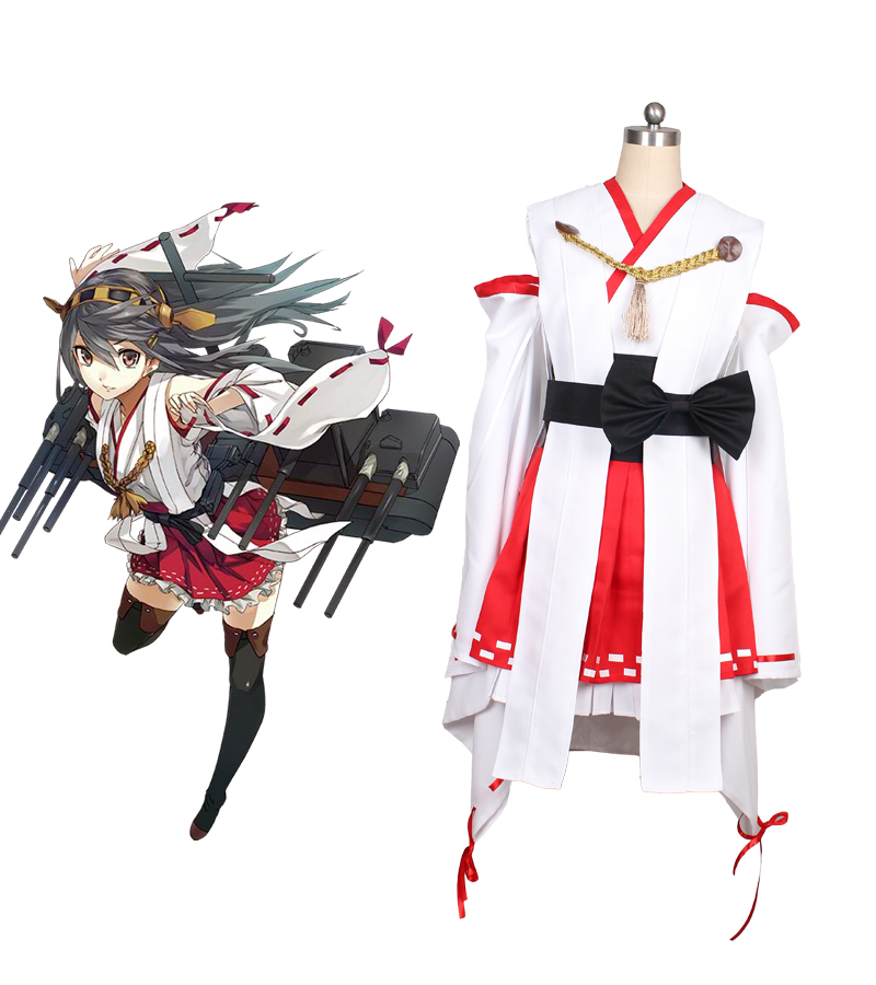 где купить Kantai Collection Kancolle Haruna Cosplay Costume дешево