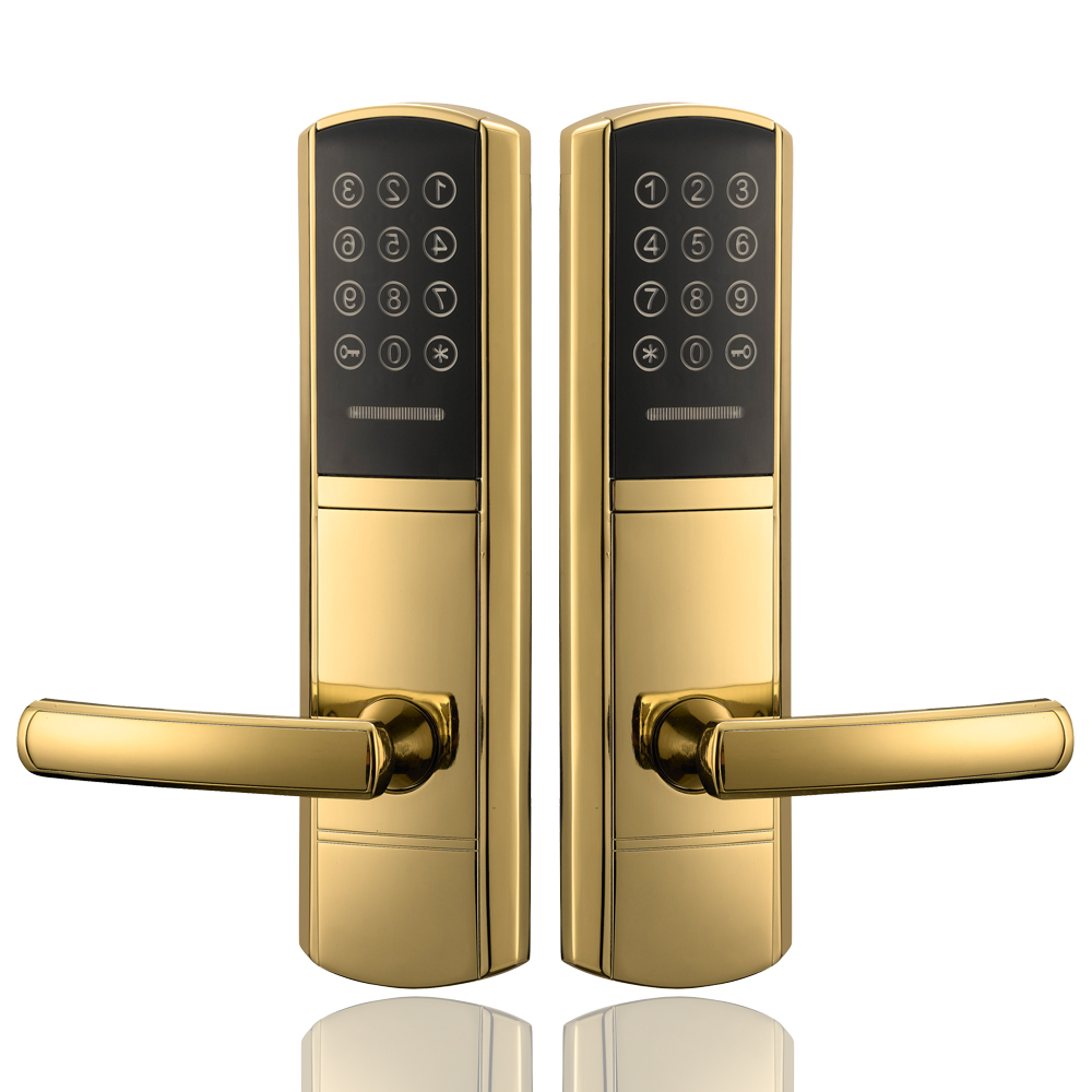 Security Digital Electronic Touch Screen Combination Keypad Password Door Lock digital electric best rfid hotel electronic door lock for flat apartment