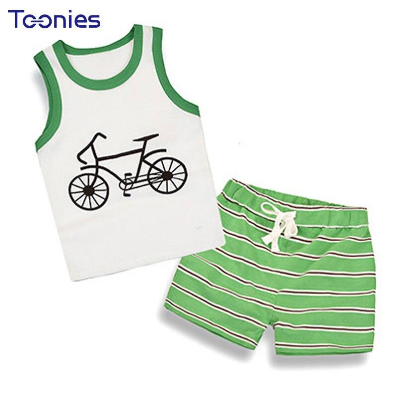 Kids Boys Summer Fashion Sport Suit Vest Cotton 2017 New Cartoon Baby Shorts Pants Children Clothing Set Infant Sets new fashion boys cartoon locomotive set thomas