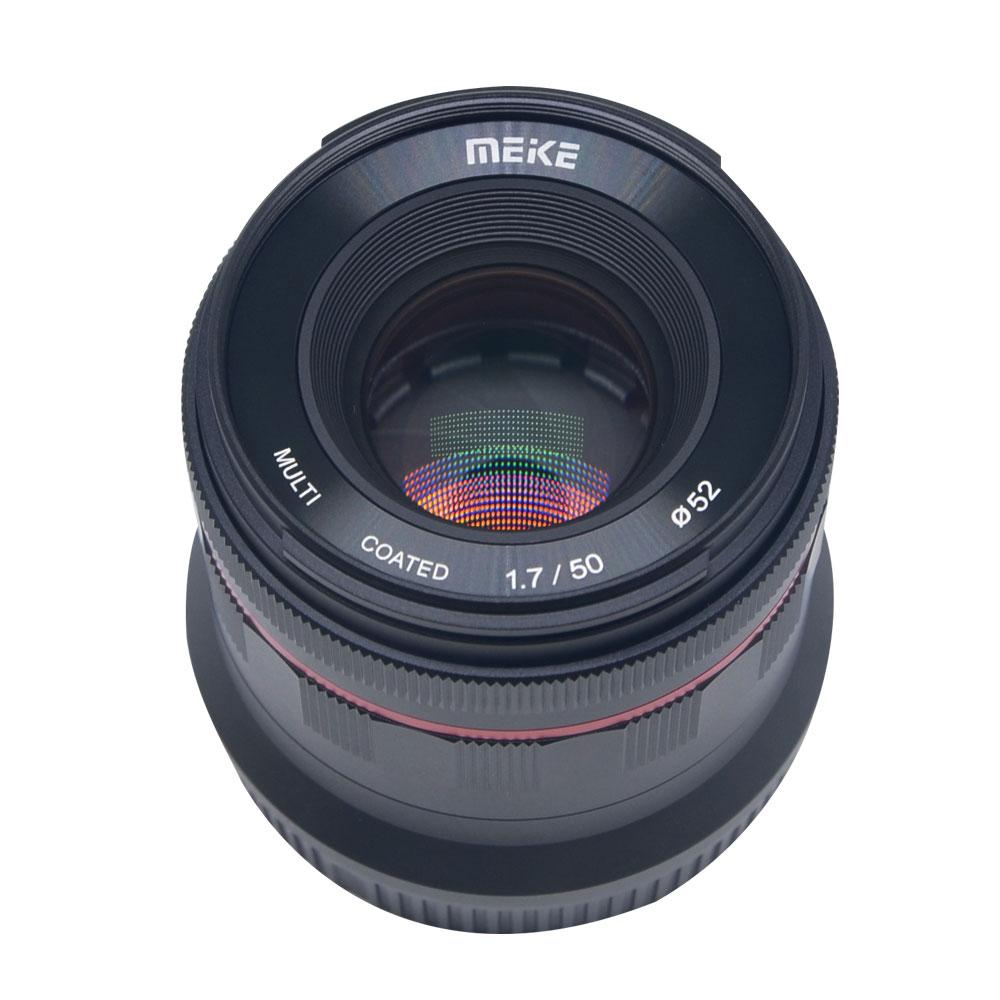 Meike 50mm f/1.7 objectif de mise au point manuelle à grande ouverture plein cadre pour Canon EOS R mount/pour Nikon Z Mount Z6 Z7 appareils photo sans miroir