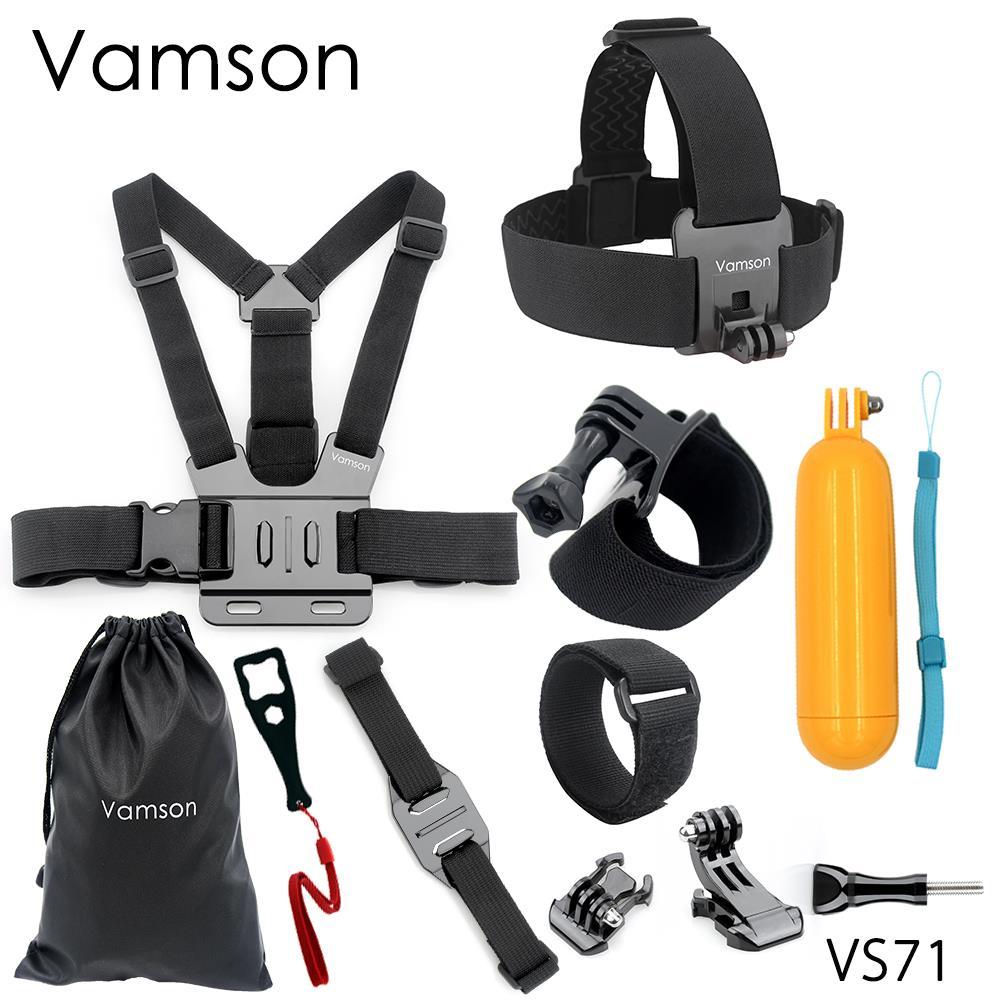 Head Strap Chest Strap Helmet Belt Floaty Bobber Wrist Band Wrench Mount Screw For Gopro Hero 5 4 3+for SJ4000 for Yi 4K VS71