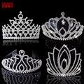 Тиары и короны AINAMEISI свадебные, роскошные диадемы с кристаллами, обручи для волос, большая корона, свадебные украшения для волос, 9 моделей