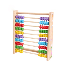 Wooden Vertical Counting Frame font b Calculation b font Educational Toys Abacus Math Arithmetic