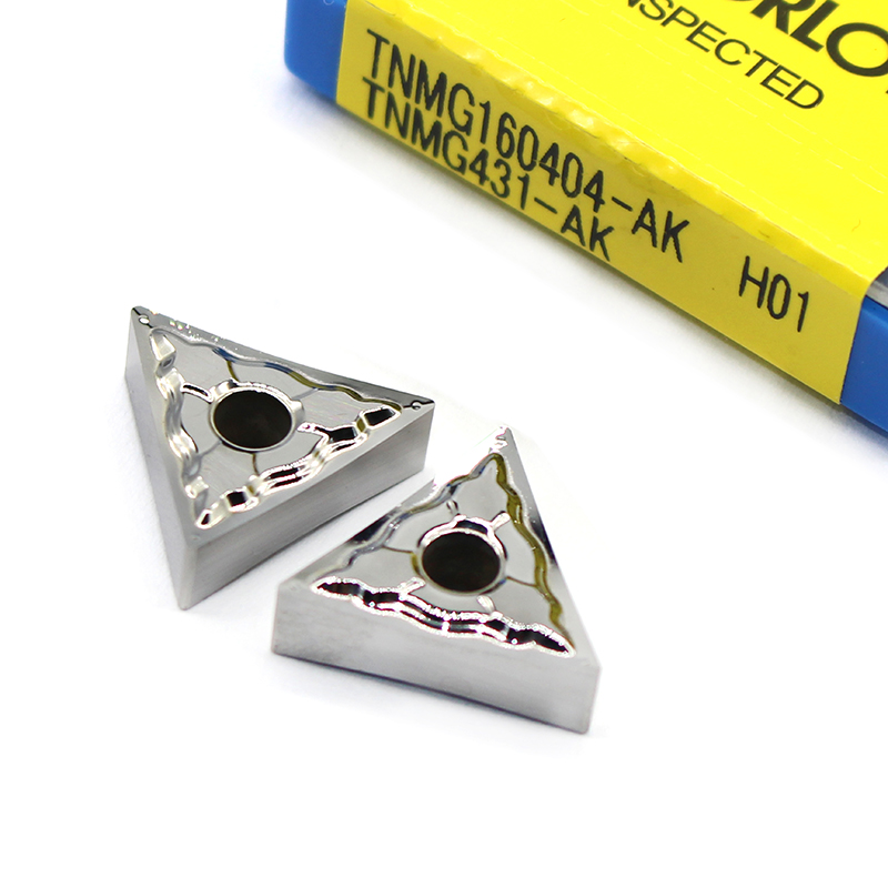 TNMG160404 AK H01 Aluminum Cutter Blade TNMG 160404 Insert Cutting Tool Turning Tool CNC Lathe Tools AL +TIN Alloy Wood
