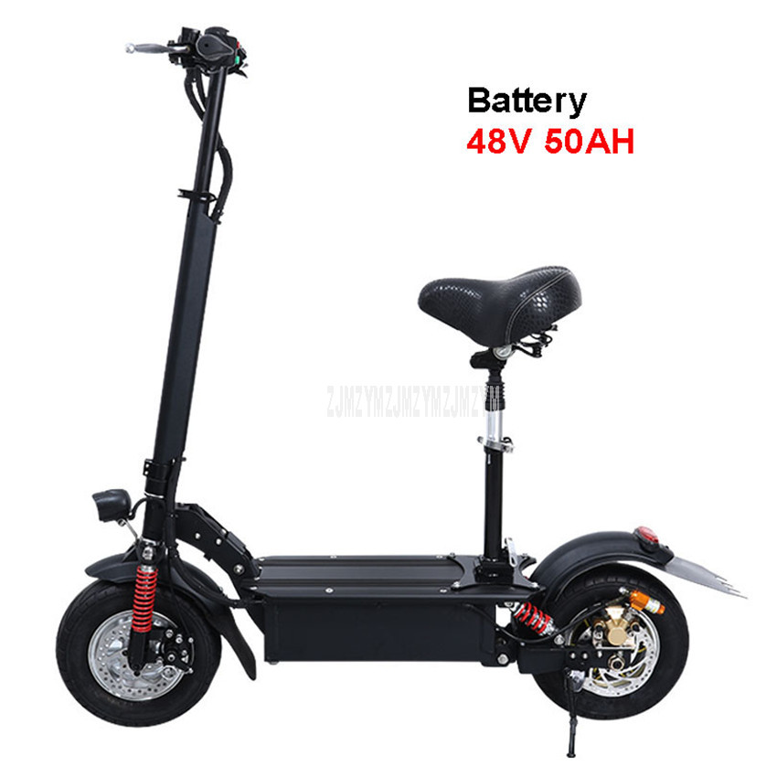 48V 50AH 11 inch Wheel Foldable Adult Electric Scooter Adult Mini Electric Bicycle Instead Of Walking Bike Ebike Mileage 150km