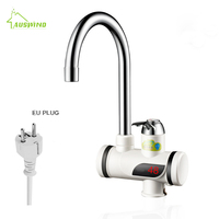 3000W Shower Water Heater Instant Kitchen Faucet electric 3 seconds heating Tankless Electric tap with LED Digital Display