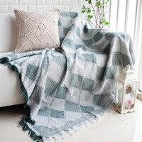 Нордическое романтическое геометрическое одеяло для дивана декоративное покрывало цветной Cobertor диван/кровати плед нескользящее сшитое од...