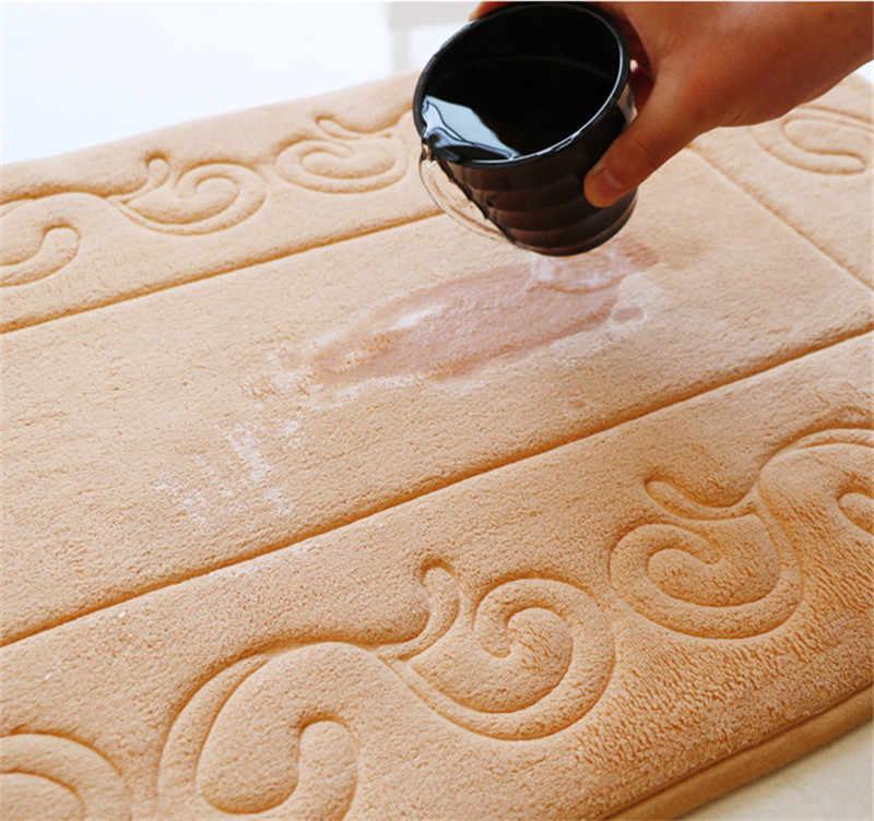 Противоскользящий коврик для ванной комнаты, качественная губка в европейском стиле, накладка на унитаз дорожка для кухни, пенный ванный коврик
