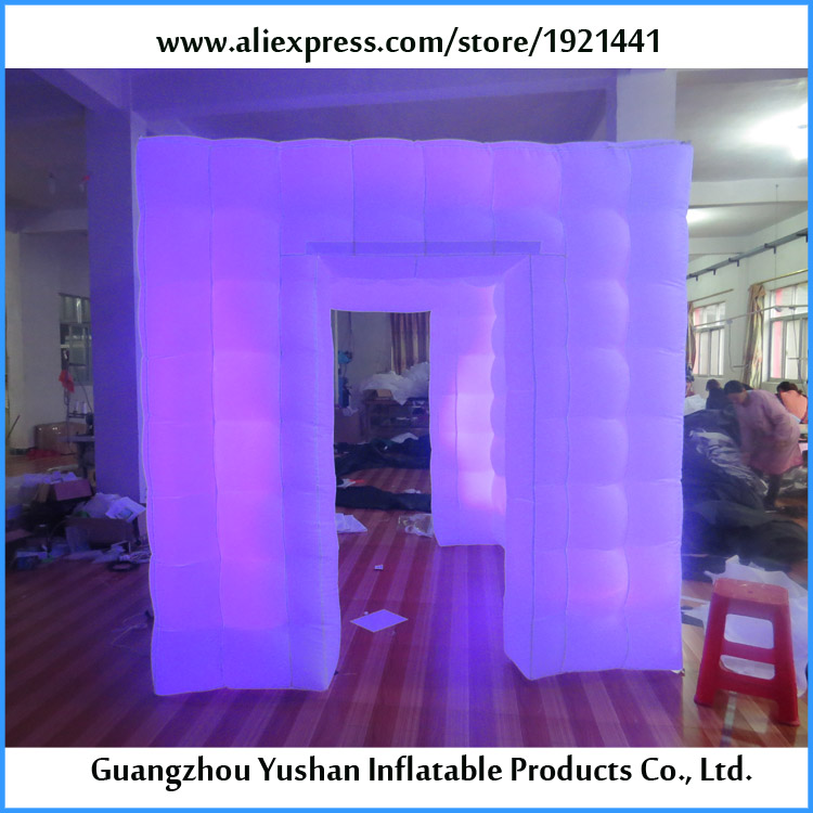 free shipping inflatable photobooth with LED strip party photo booth rentals