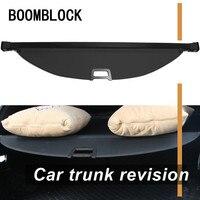Auto Car Rear Trunk Cargo Shelf Cover For Hyundai Santa Fe 2018 2013 Car Rear Tail Racks Retractable Curtain Spacer Accessories