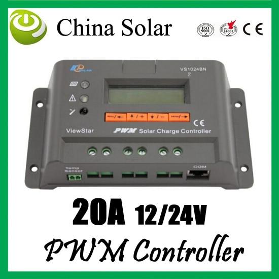 ФОТО PWM Solar Charge controller 20A 12/24V EP solar VS2024N
