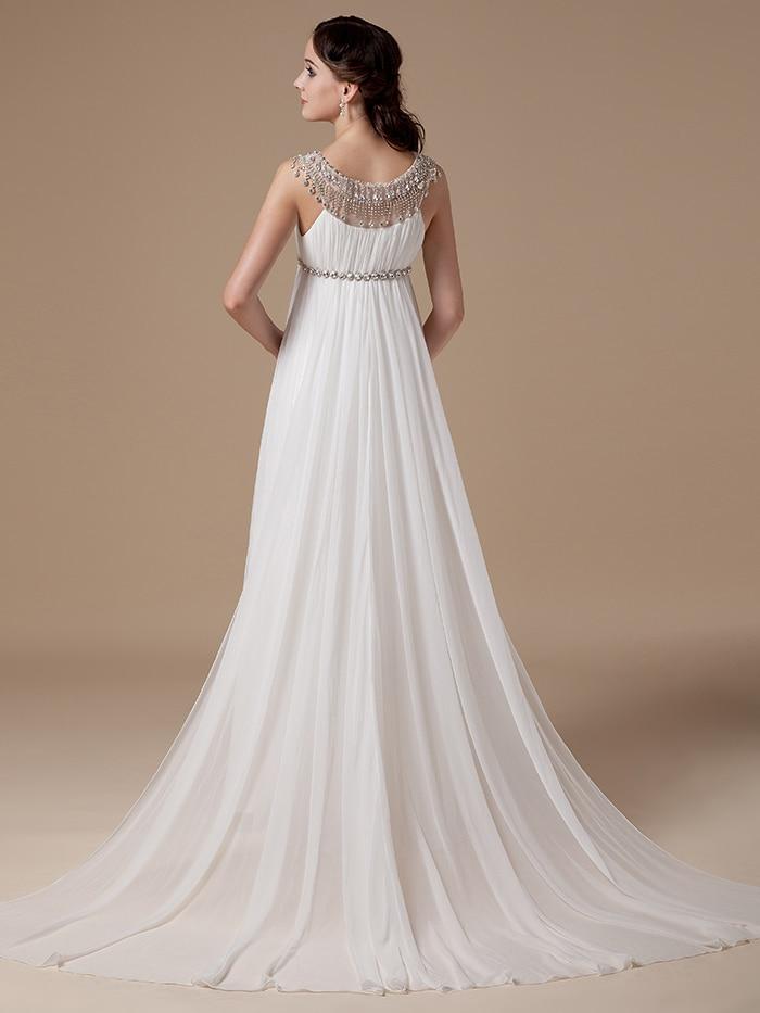 20167Empire Maternity Wedding Dresses Real Photos Reception Chiffon ...