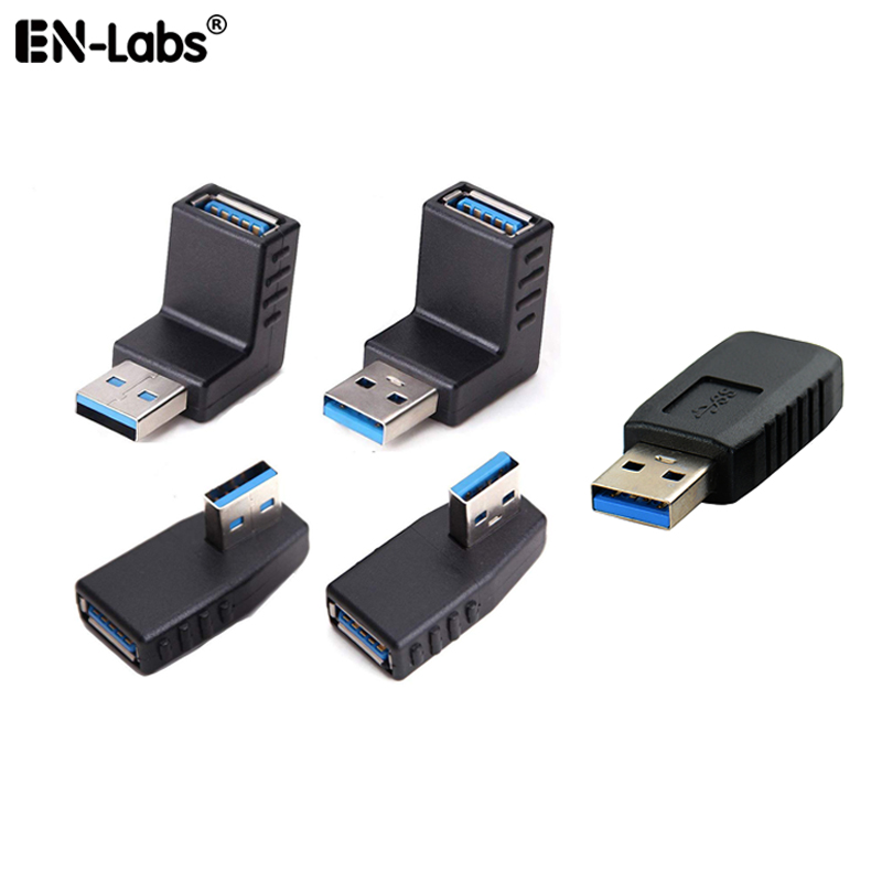 USB 3 Male To Female Adapter Connector Kit,USB 3.0 Header 180/90 Degree (Right,Left,Up,Down) Notebook Laptop Port Jack Protector